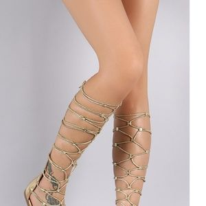 Bamboo Strappy Gladiator sandals